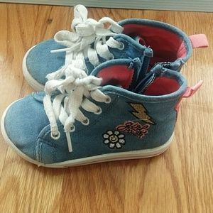 Carters girl power sneakers shoes size 7